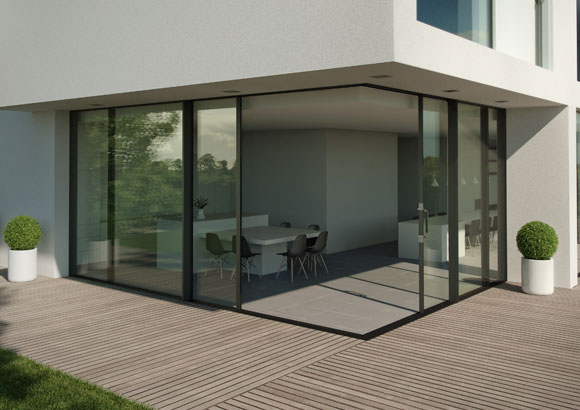 The very latest in contemporary sliding doors capital for Corner sliding glass doors