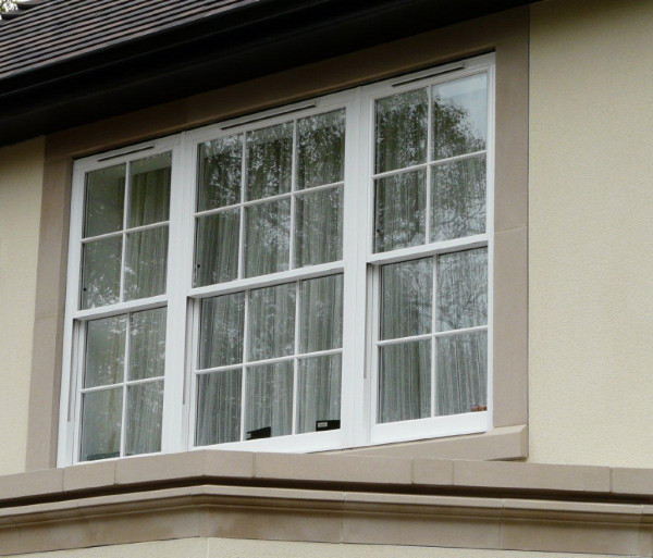 Aluminium Vertical Sliding Windows
