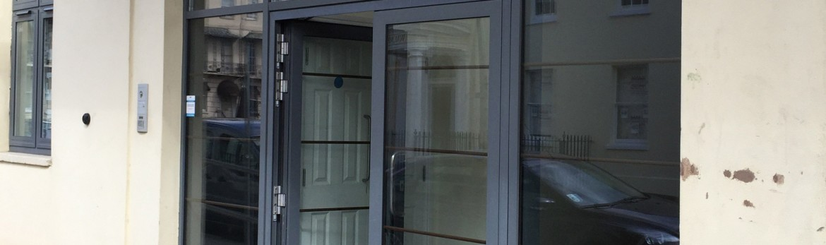 Things to consider with handles for commercial aluminium doors.