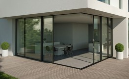 lift and slide patio doors in situ