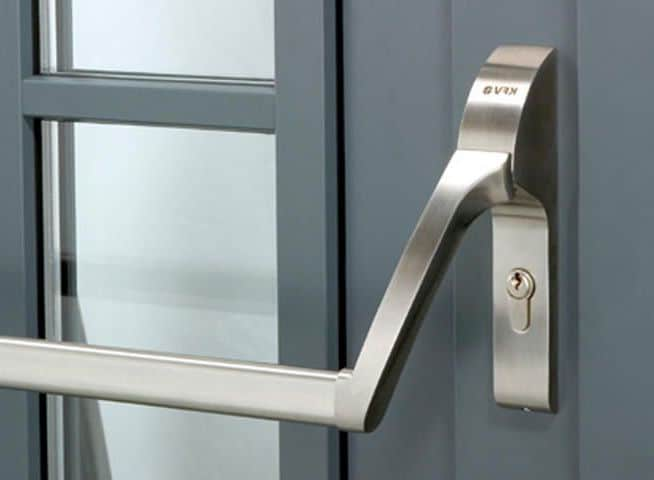 What is a panic bar and what is an exit device?