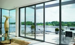 Sliding doors in luxury homes.