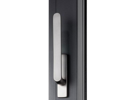 Reynaers purity door handles.